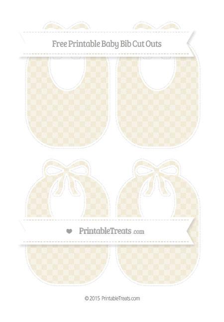 Free Eggshell Checker Pattern Medium Baby Bib Cut Outs