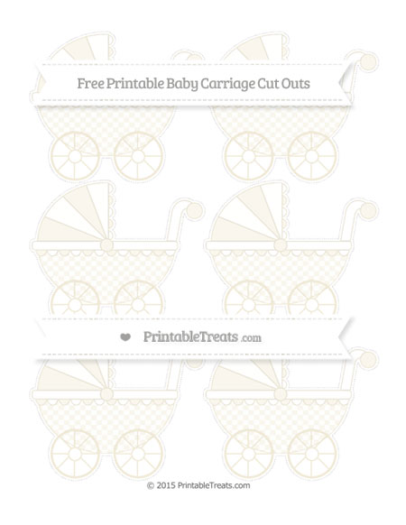 Free Eggshell Checker Pattern Small Baby Carriage Cut Outs