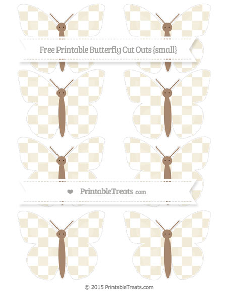 Free Eggshell Checker Pattern Small Butterfly Cut Outs