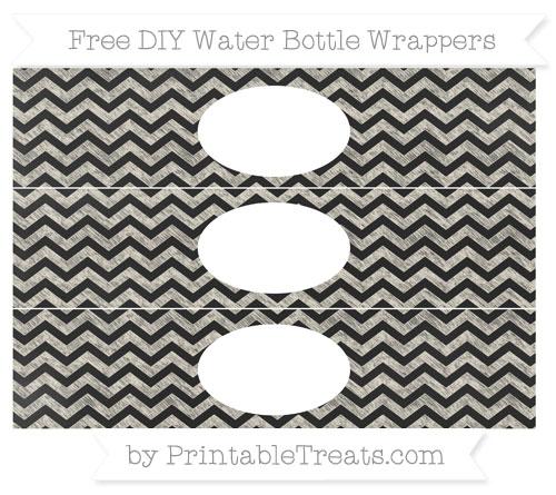 Free Eggshell Chevron Chalk Style DIY Water Bottle Wrappers