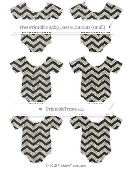 Free Eggshell Chevron Chalk Style Small Baby Onesie Cut Outs