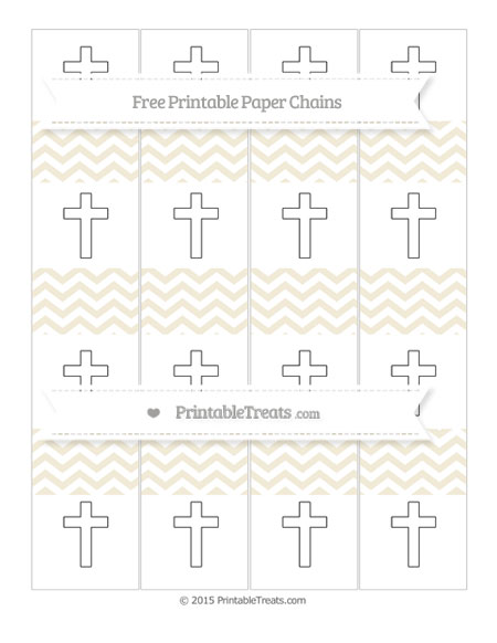 Free Eggshell Chevron Cross Paper Chains
