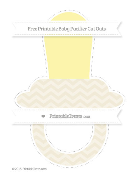 Free Eggshell Chevron Extra Large Baby Pacifier Cut Outs
