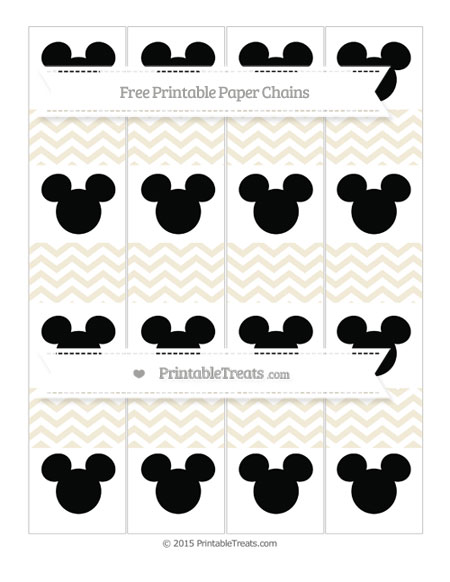 Free Eggshell Chevron Mickey Mouse Paper Chains