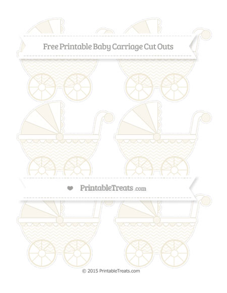 Free Eggshell Chevron Small Baby Carriage Cut Outs