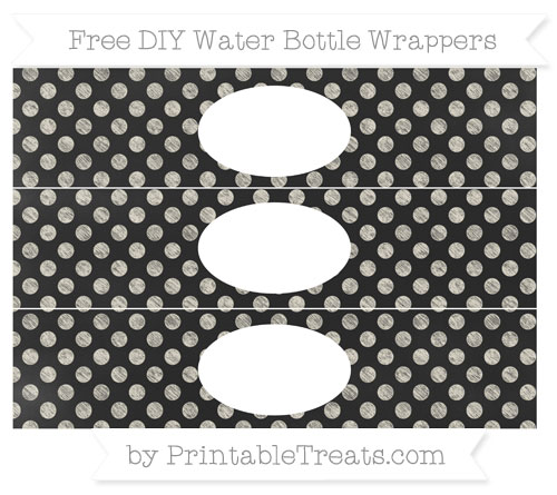 Free Eggshell Dotted Pattern Chalk Style DIY Water Bottle Wrappers