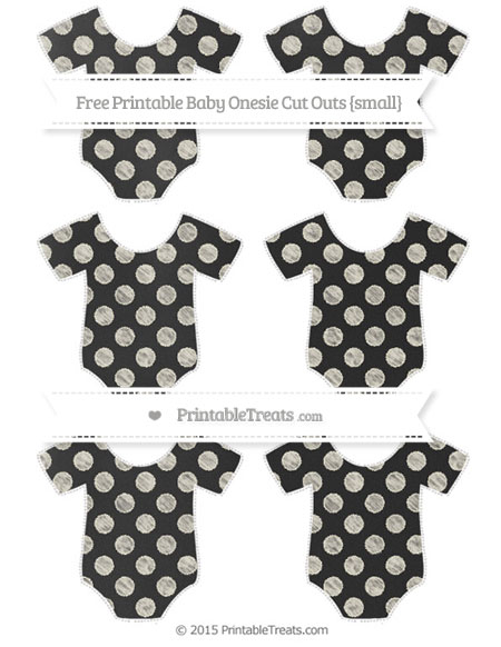 Free Eggshell Dotted Pattern Chalk Style Small Baby Onesie Cut Outs