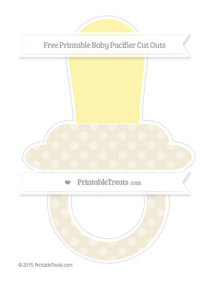 Free Eggshell Dotted Pattern Extra Large Baby Pacifier Cut Outs