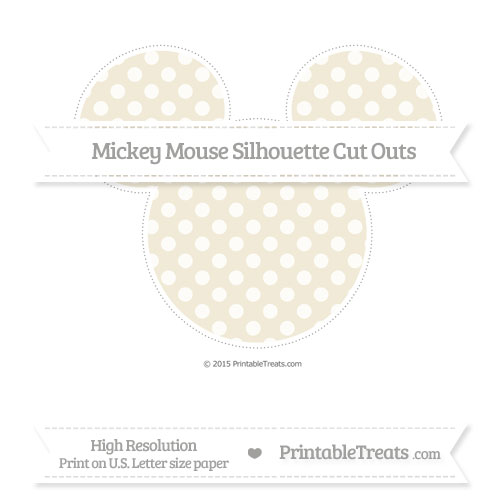 Free Eggshell Dotted Pattern Extra Large Mickey Mouse Silhouette Cut Outs