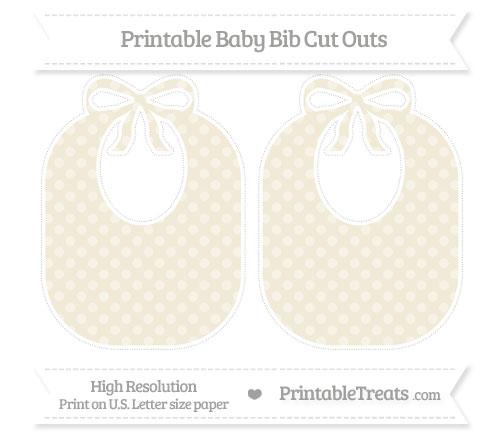 Free Eggshell Dotted Pattern Large Baby Bib Cut Outs