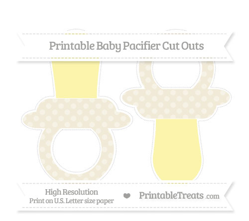 Free Eggshell Dotted Pattern Large Baby Pacifier Cut Outs