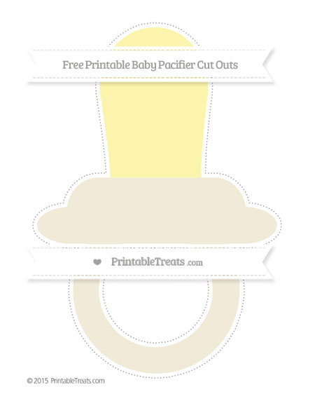 Free Eggshell Extra Large Baby Pacifier Cut Outs