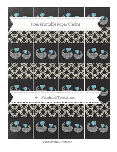 Free Eggshell Fish Scale Pattern Chalk Style Baby Whale Paper Chains