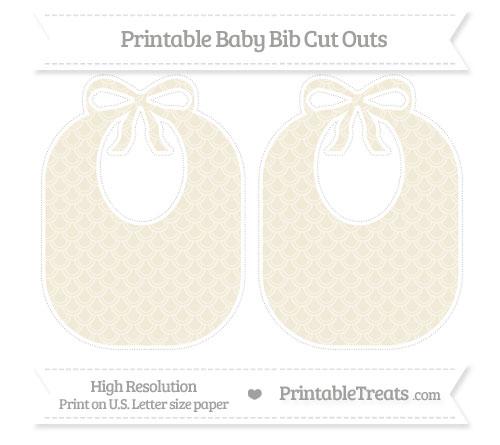 Free Eggshell Fish Scale Pattern Large Baby Bib Cut Outs
