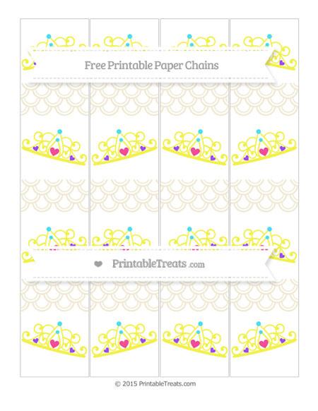 Free Eggshell Fish Scale Pattern Princess Tiara Paper Chains