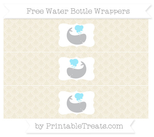 Free Eggshell Fish Scale Pattern Whale Water Bottle Wrappers
