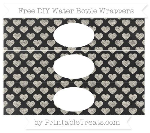 Free Eggshell Heart Pattern Chalk Style DIY Water Bottle Wrappers