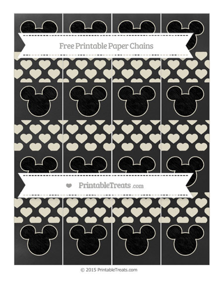 Free Eggshell Heart Pattern Chalk Style Mickey Mouse Paper Chains