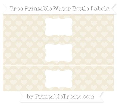 Free Eggshell Heart Pattern Water Bottle Labels
