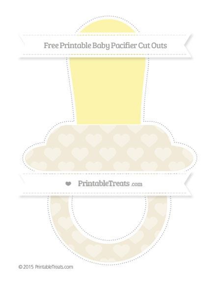 Free Eggshell Heart Pattern Extra Large Baby Pacifier Cut Outs
