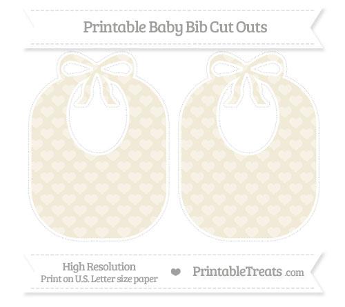 Free Eggshell Heart Pattern Large Baby Bib Cut Outs