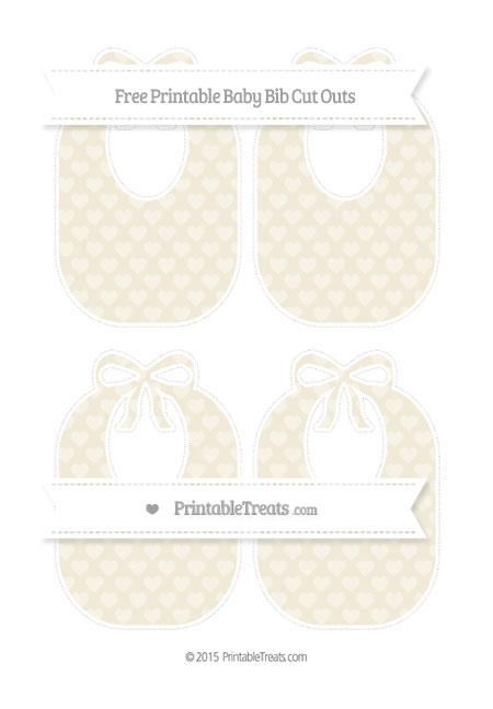 Free Eggshell Heart Pattern Medium Baby Bib Cut Outs