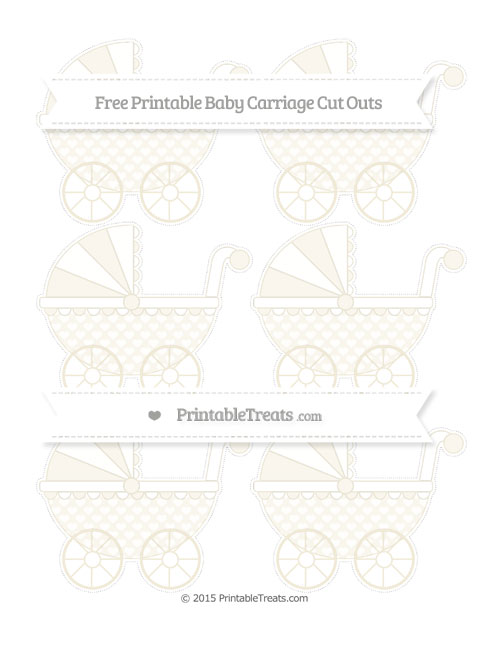 Free Eggshell Heart Pattern Small Baby Carriage Cut Outs