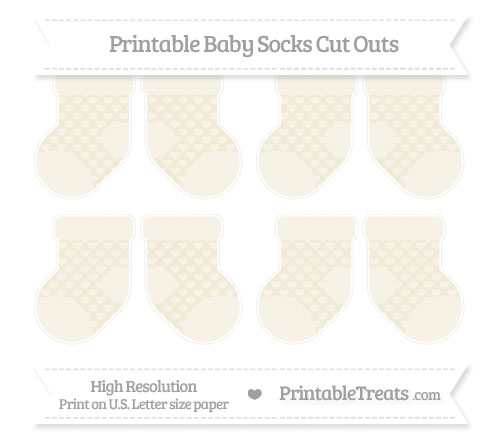 Free Eggshell Heart Pattern Small Baby Socks Cut Outs
