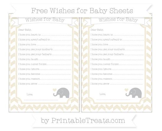 Free Eggshell Herringbone Pattern Baby Elephant Wishes for Baby Sheets