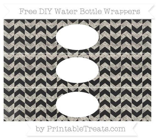 Free Eggshell Herringbone Pattern Chalk Style DIY Water Bottle Wrappers