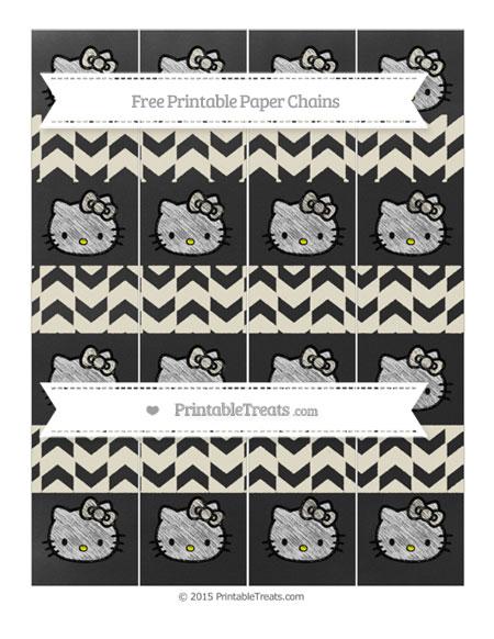 Free Eggshell Herringbone Pattern Chalk Style Hello Kitty Paper Chains