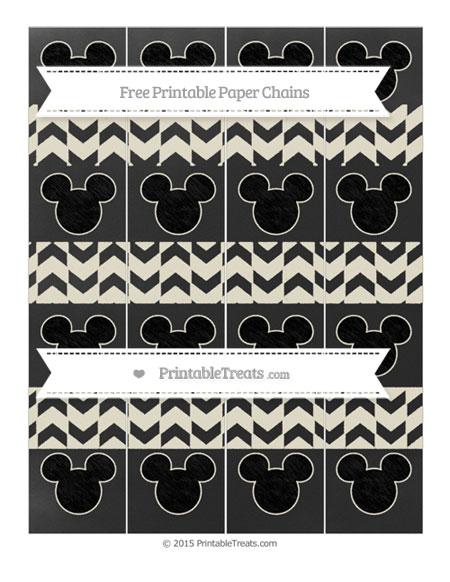 Free Eggshell Herringbone Pattern Chalk Style Mickey Mouse Paper Chains
