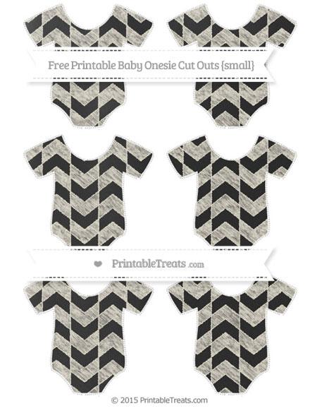 Free Eggshell Herringbone Pattern Chalk Style Small Baby Onesie Cut Outs