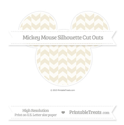 Free Eggshell Herringbone Pattern Extra Large Mickey Mouse Silhouette Cut Outs