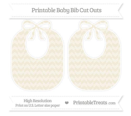 Free Eggshell Herringbone Pattern Large Baby Bib Cut Outs