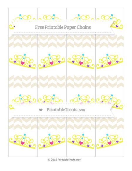 Free Eggshell Herringbone Pattern Princess Tiara Paper Chains