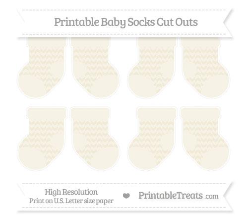 Free Eggshell Herringbone Pattern Small Baby Socks Cut Outs