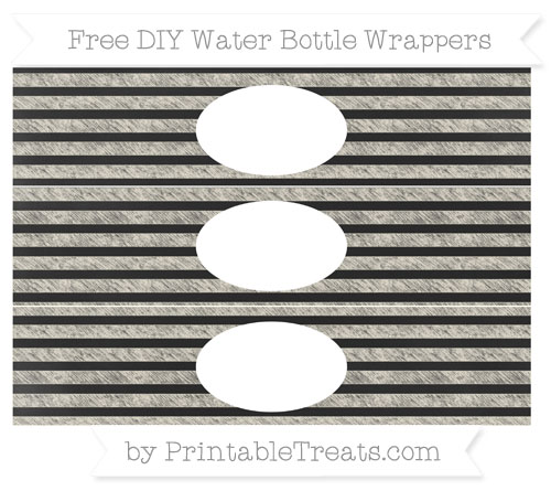 Free Eggshell Horizontal Striped Chalk Style DIY Water Bottle Wrappers