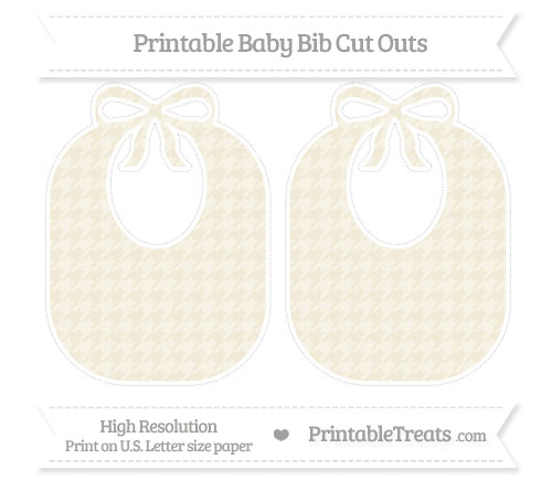 Free Eggshell Houndstooth Pattern Large Baby Bib Cut Outs