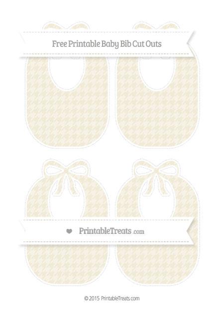 Free Eggshell Houndstooth Pattern Medium Baby Bib Cut Outs