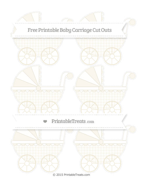 Free Eggshell Houndstooth Pattern Small Baby Carriage Cut Outs
