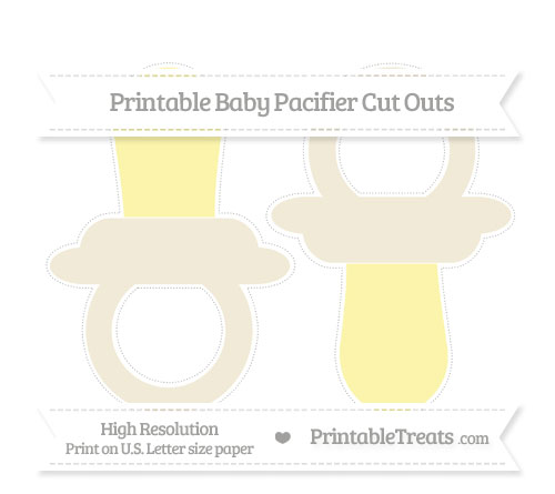 Free Eggshell Large Baby Pacifier Cut Outs