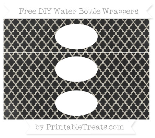 Free Eggshell Moroccan Tile Chalk Style DIY Water Bottle Wrappers