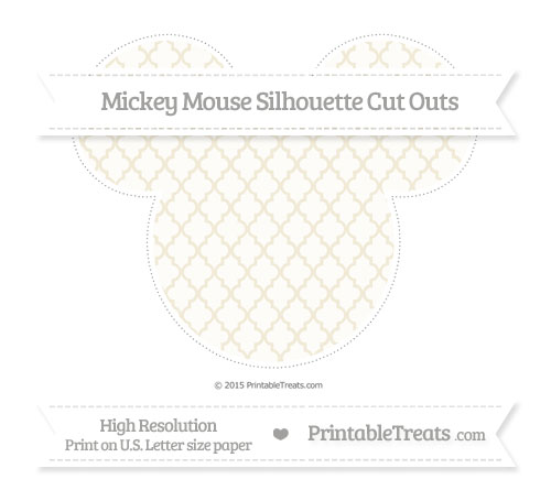 Free Eggshell Moroccan Tile Extra Large Mickey Mouse Silhouette Cut Outs