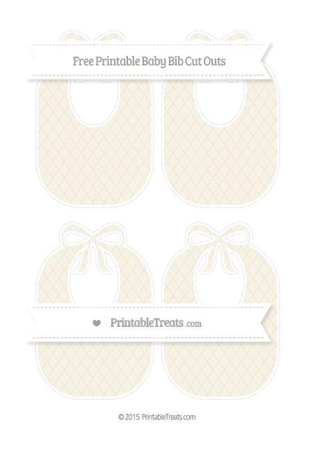 Free Eggshell Moroccan Tile Medium Baby Bib Cut Outs