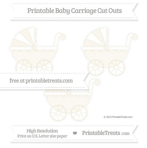 Free Eggshell Moroccan Tile Medium Baby Carriage Cut Outs