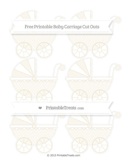 Free Eggshell Moroccan Tile Small Baby Carriage Cut Outs