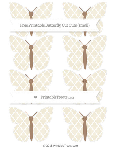 Free Eggshell Moroccan Tile Small Butterfly Cut Outs