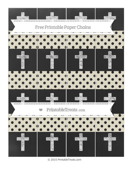 Free Eggshell Polka Dot Chalk Style Cross Paper Chains