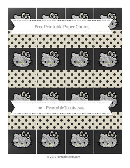 Free Eggshell Polka Dot Chalk Style Hello Kitty Paper Chains